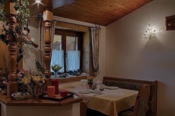 Frühstücksraum im Gästehaus Heidi